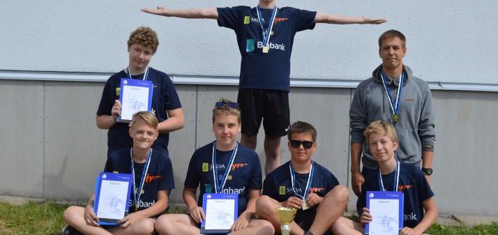 Salva Tartu U14 poisid on Eesti meistrid ja tüdrukud Eesti viiendad